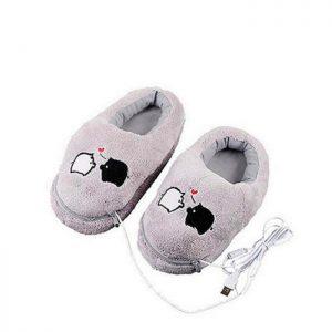 chaussons-chauffants-usb